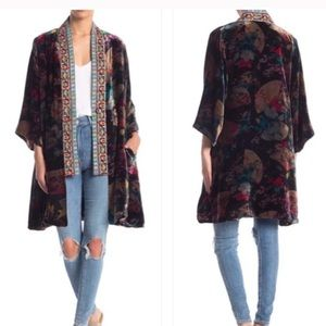 JOHNNY WAS Fusai Velvet Kimono reversible silk